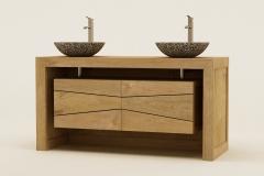 Meuble salle de bain en teck Kayumanis