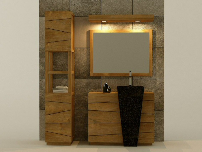 Meubles De Salle De Bain En Teck Design Kayumanis France - Meuble salle de bain tek