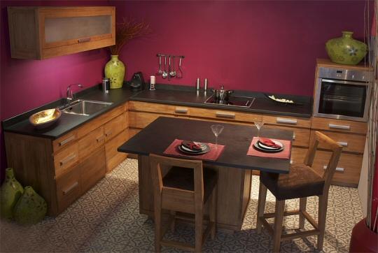 meubles de cuisine en teck Kayumanis