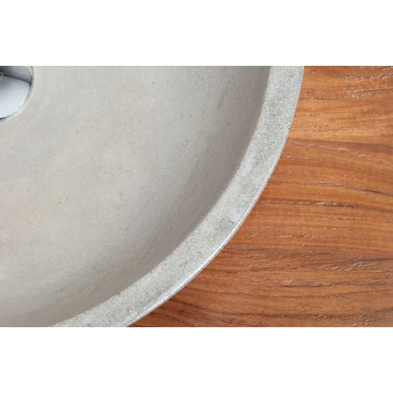 vasque-ronde-beton-cire-pour-2-robinets-kayumanis-3 - kayumanis
