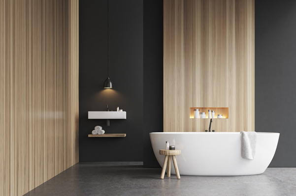 une salle de bain design et contemporaine