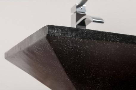 dessous vasque béton ciré rectangulaire