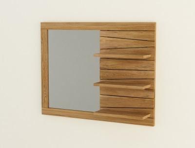 miroir en teck pour salle de bain design