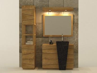 ensemble mobilier de salle de bain en teck Kayumanis