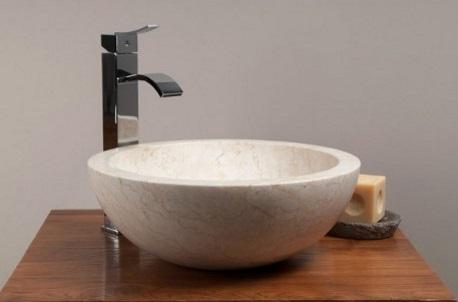 vasque bol ronde en marbre de java Kayumanis