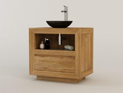 meuble teck salle de bain vasque bol MAROS de KAYUMANIS