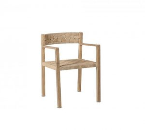 Chaise en teck massif beige - CORA - Kayumanis