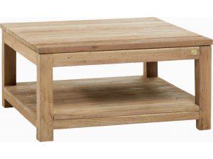 Table basse en teck rustique 80 cm - Kayumanis