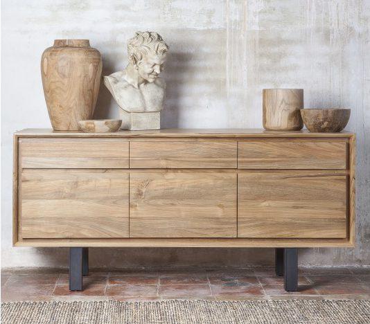 Commode LOX S meuble en teck de salon - déco KAYUMANIS