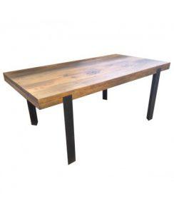 Table de salon en bois de pin avec pieds en fer - VIEUX PIN de Kayumanis