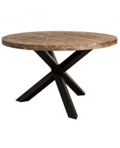 Table en teck design avec pieds en fer - XY de Kayumanis