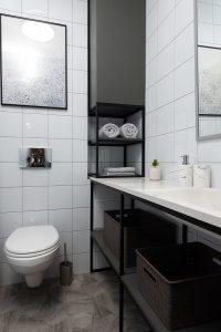 Salle de bain rangement sous le meuble